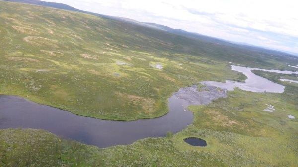Fluss im Fjäll