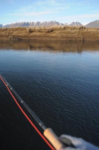 Tiefe Rinne am anderen Ufer, Huseyjarkvisl, Island