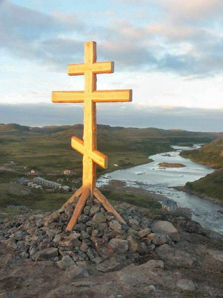 Rynda Kreuz, Kola Halbinsel, Russland