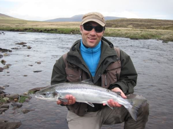 Lachs, spate river, Irland
