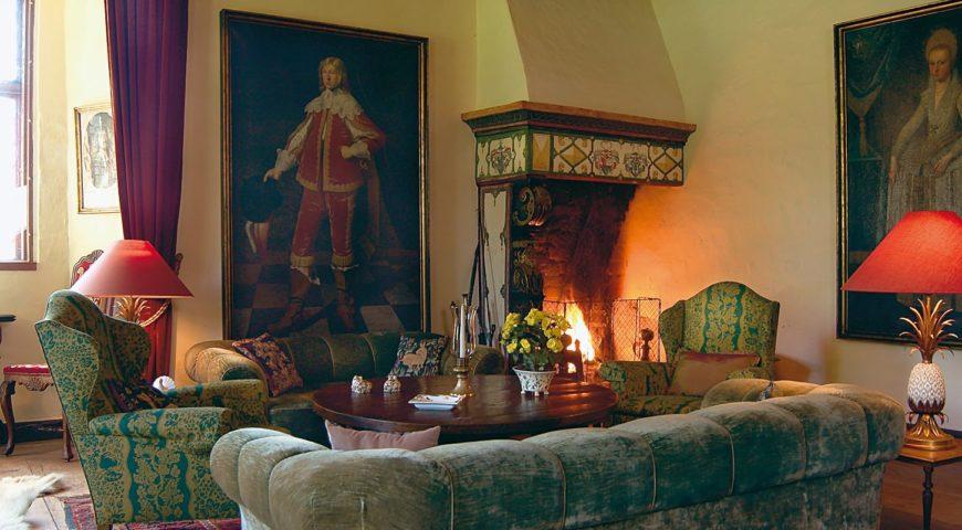 Daenemark-Royal-Seatrout-Lodge-Schloss-Kaminzimmer