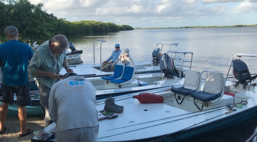 Espiritu-Santo-Bay-Lodge-Oktober-2019-Skiffs