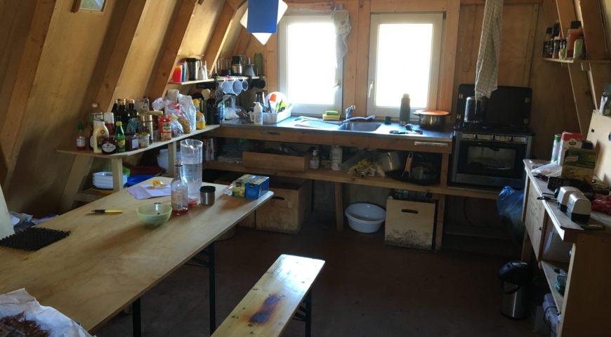 Grönland-Secret-River-Camp-Küche