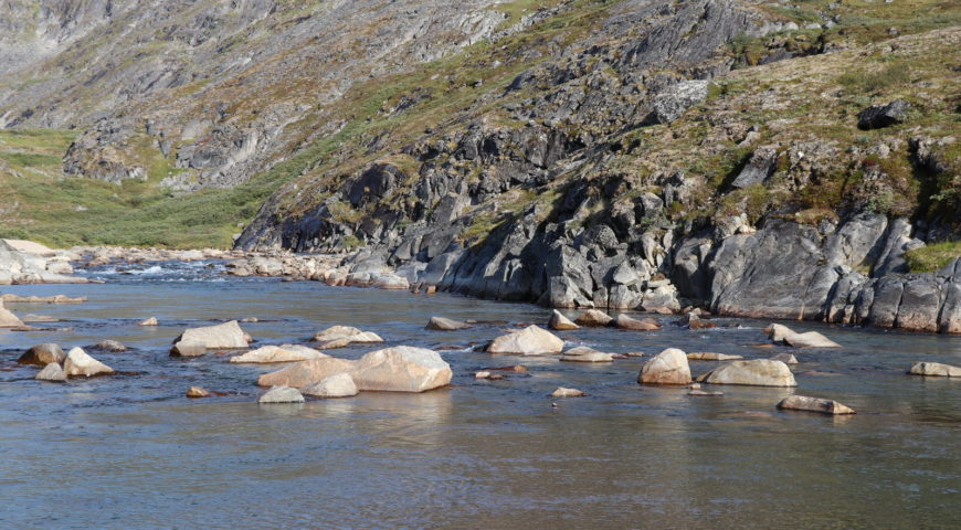 Grönland-Secret-River-Camp-Pool-Unterlauf