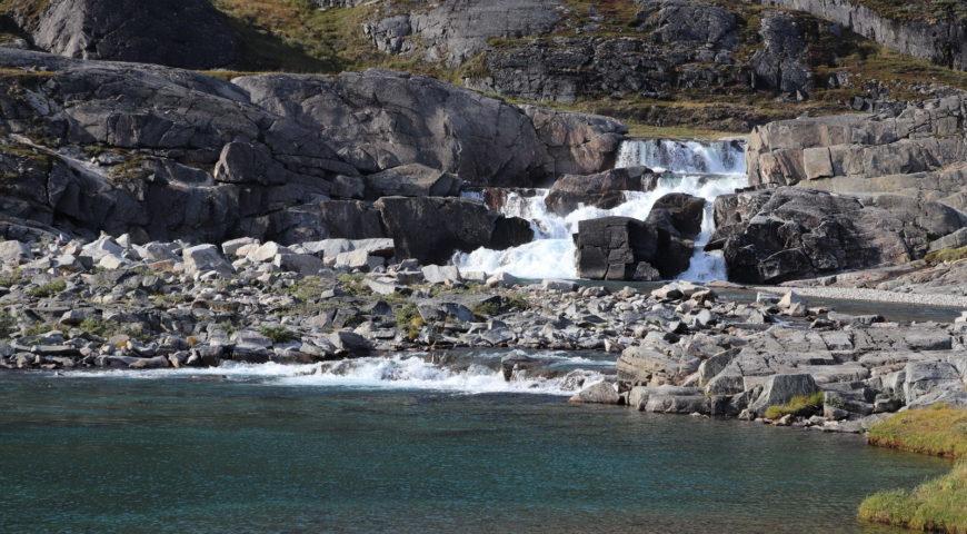 Grönland-Secret-River-Camp-Wasserfall-Ende-Aufstieg