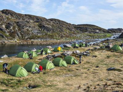 Groenland-Zeltcamp