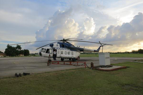 Flug nach Cayo Largo mit russischem MI-8