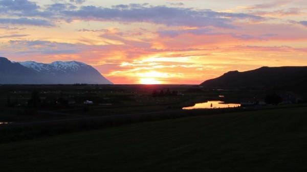 Sonnenuntergang in Islands Nordosten