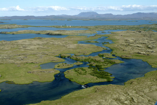 Auslauf der Laxá in Myvatnssveit, Island