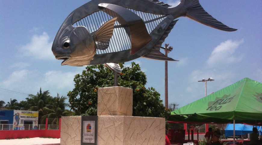 Mexiko-Punta-Allen-Fishing-Club-Permit-Statue