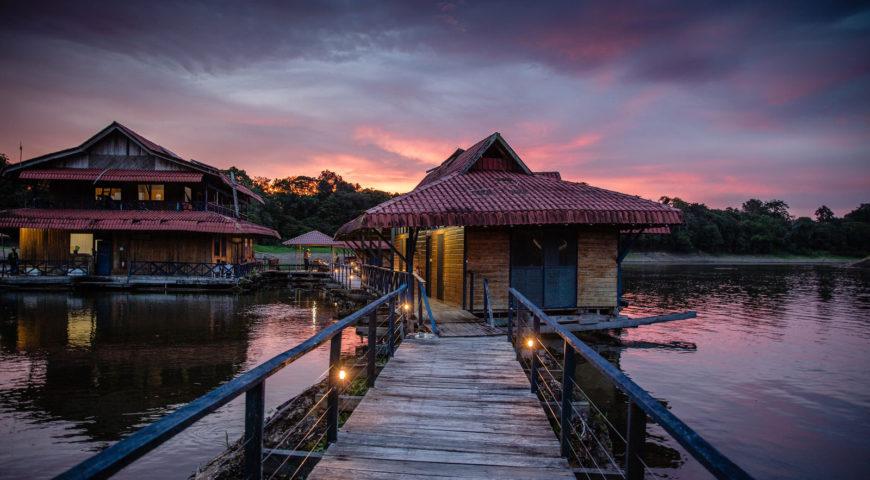 Pirarucu-Sonnenuntergang