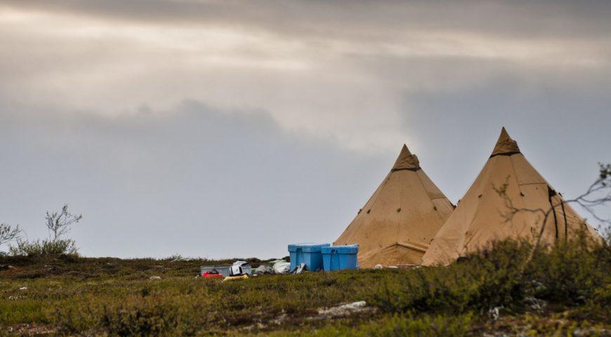 Russland-ASR-Forellen-Camp-Kharlovka-Zelte