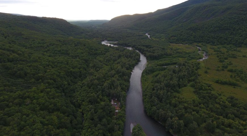 Russland-Kamchatka-Icha-River-Camp-Camp-Luft