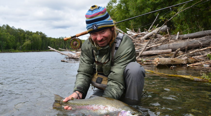 Russland-Kamchatka-Icha-River-Camp-Regenbogenforelle-wild