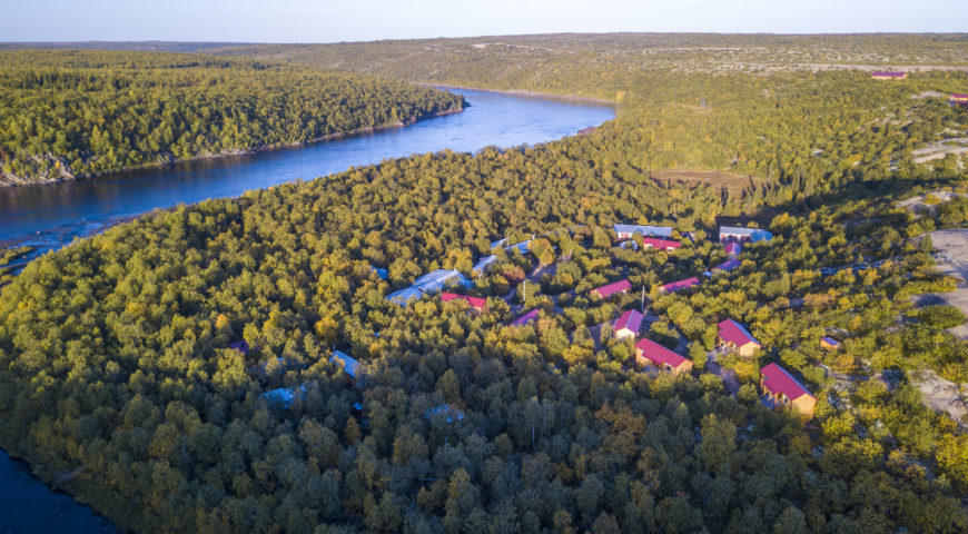 Russland-Ponoi-Ryabaga-Camp-morgens
