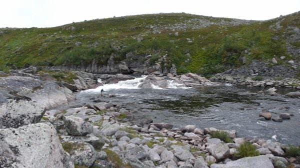 3. Wasserfall an der Rynda, Russland, Kola Halbinsel
