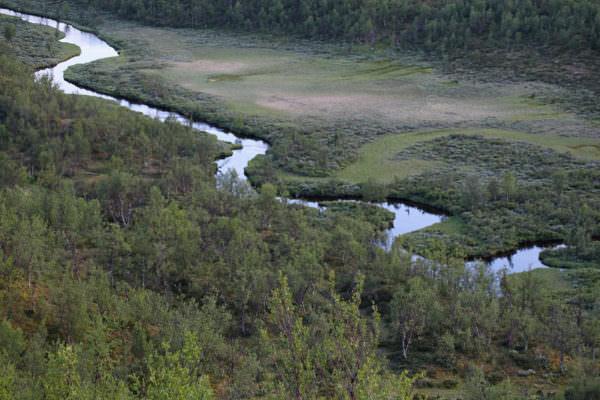 Fluss nahe Kiruna, Lappland, Schweden