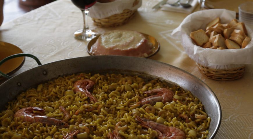 Spanien-Barbe-Paella-Unterkunft