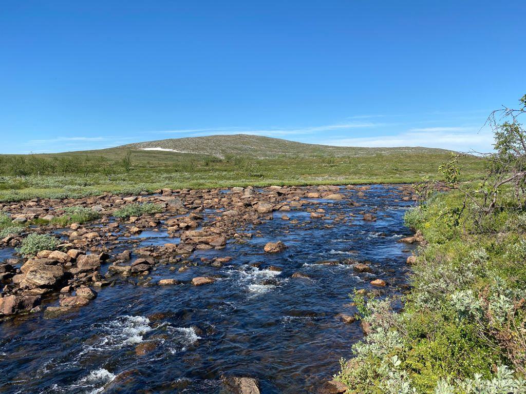 Fluss in Lappland