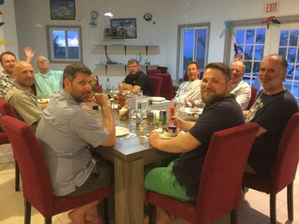 Dinner mit der gesamten Gruppe