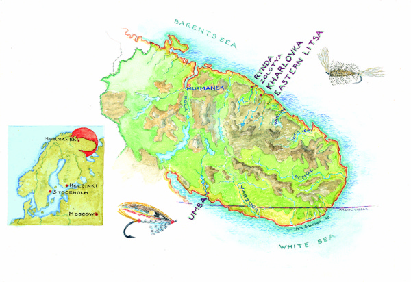 Lage des ASR und Northern Rivers, Kola Halbinsel, Russland