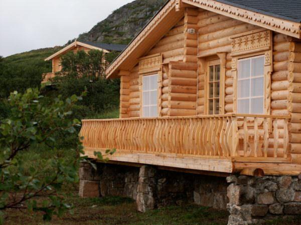 Cabin an der Rynda, Russland, Kola Halbinsel